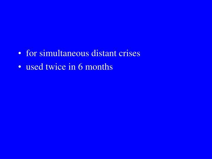 for simultaneous distant crises