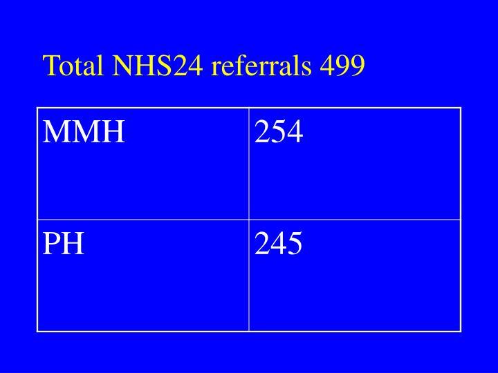 Total NHS24 referrals 499