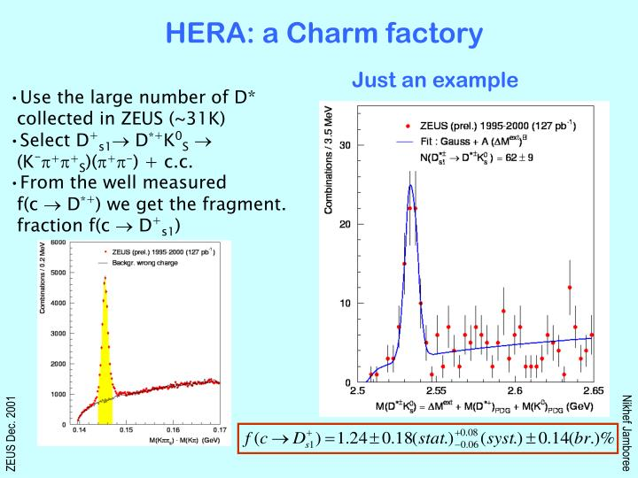 HERA: a Charm factory