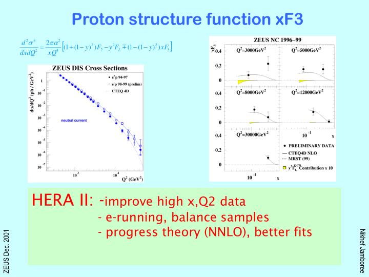 Proton structure function xF3