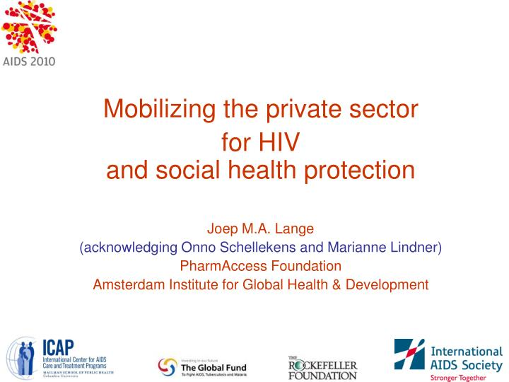 Mobilizing the private sector