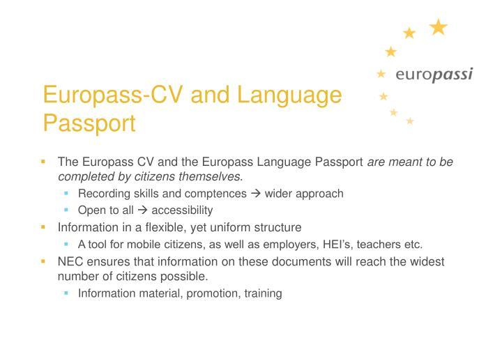 Europass-CV and Language Passport