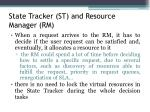 state tracker st and resource manager rm