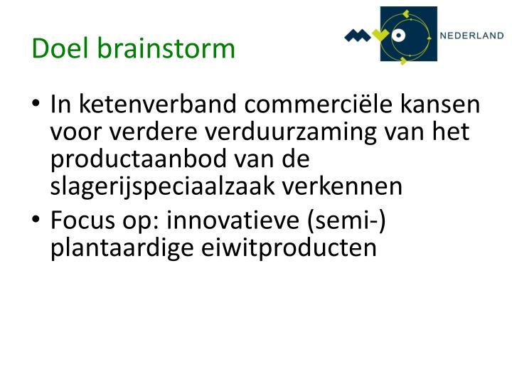 Doel brainstorm