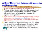 a brief history of automated diagnostics and prognostics