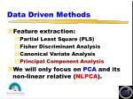 data driven methods1
