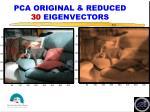 pca original reduced 30 eigenvectors