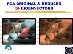 pca original reduced 54 eigenvectors