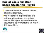 radial basis function based clustering rbfc
