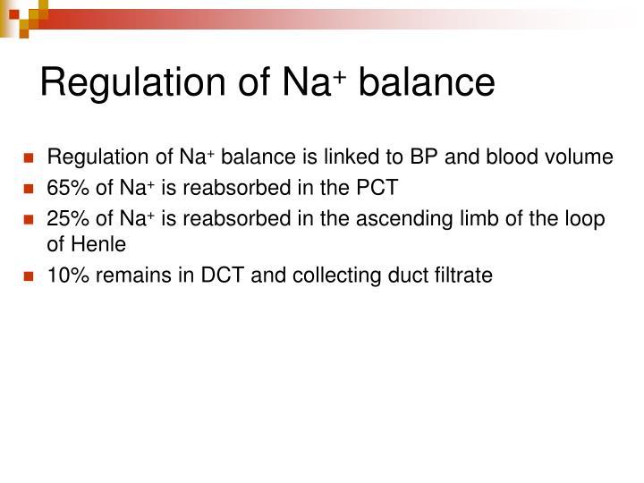 Regulation of Na