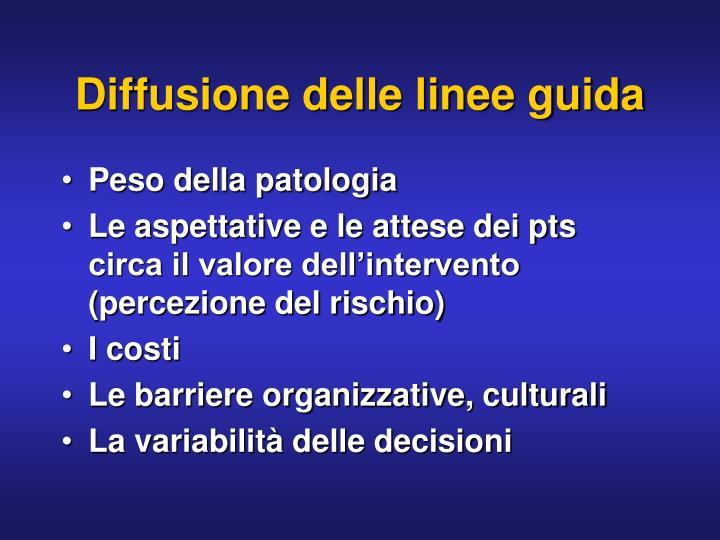 Diffusione delle linee guida
