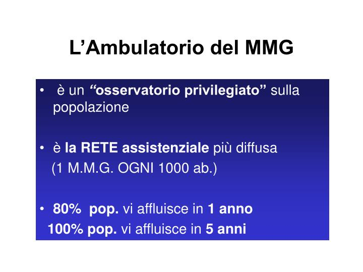 L ambulatorio del mmg