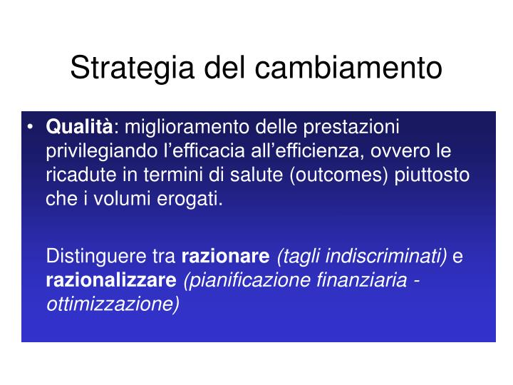 Strategia del cambiamento