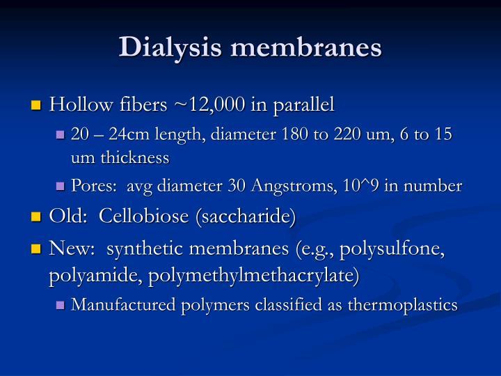 Dialysis membranes