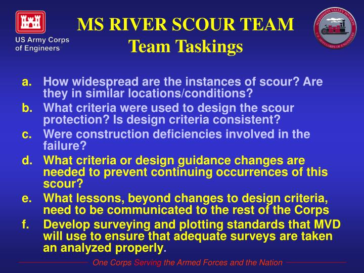 How widespread are the instances of scour? Are they in similar locations/conditions?