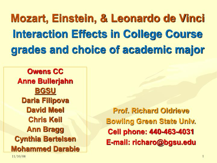 Mozart, Einstein, & Leonardo de Vinci