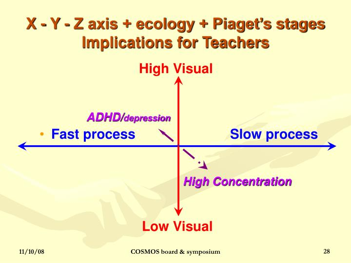 X - Y - Z axis + ecology + Piaget's stages