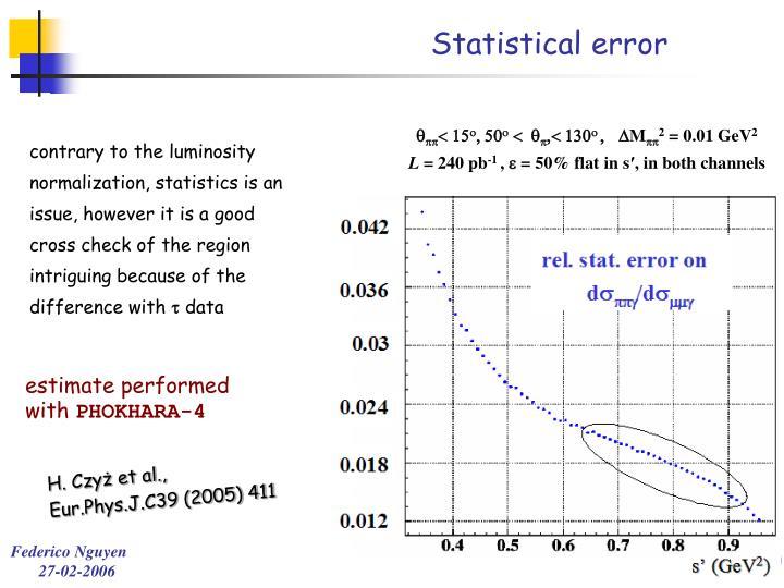 Statistical error