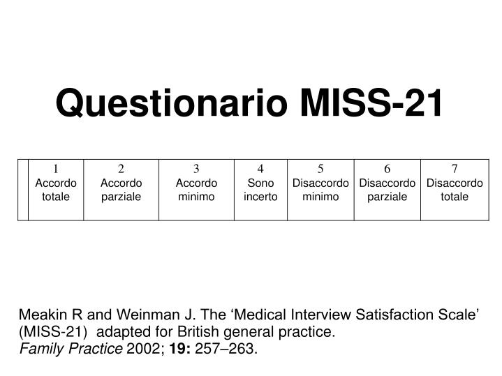 Questionario MISS-21