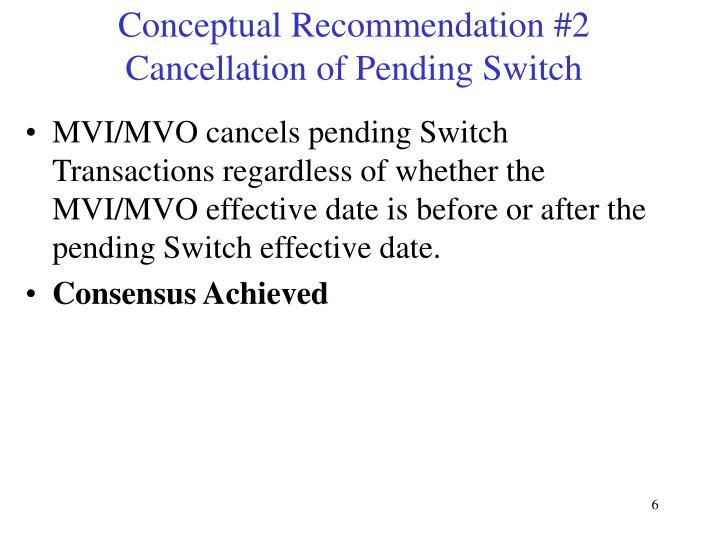 Conceptual Recommendation #2