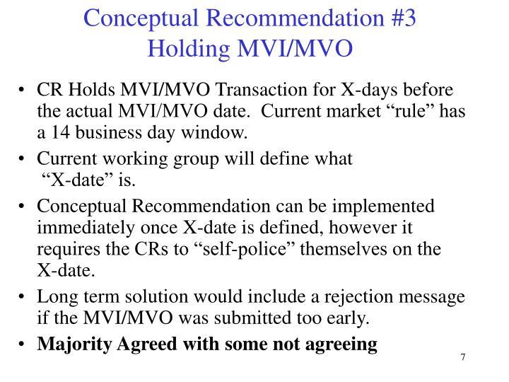 Conceptual Recommendation #3