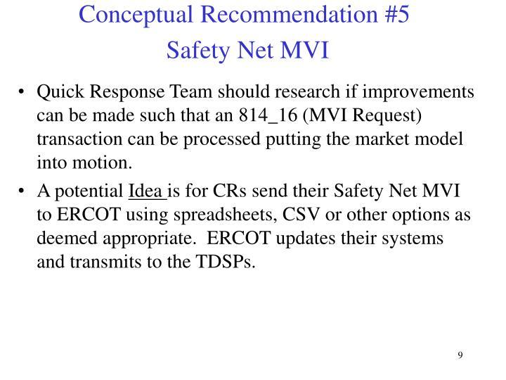 Conceptual Recommendation #5