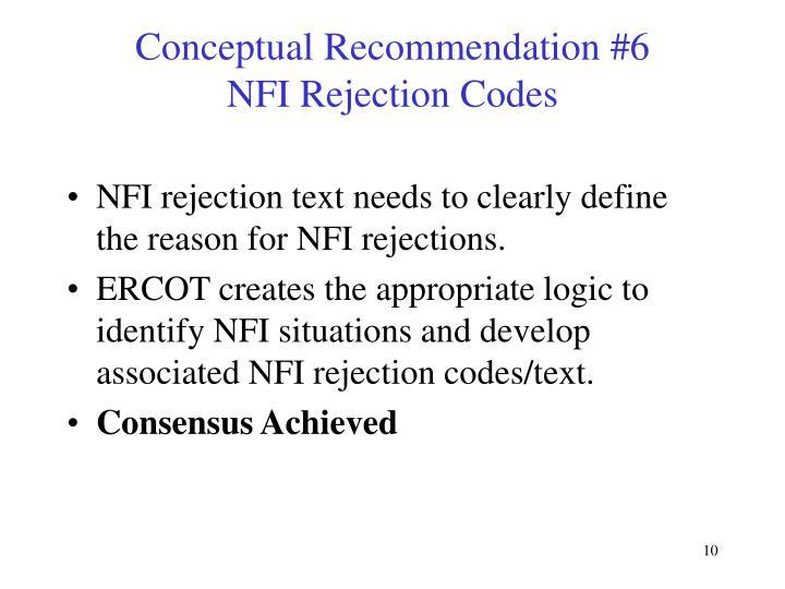 Conceptual Recommendation #6