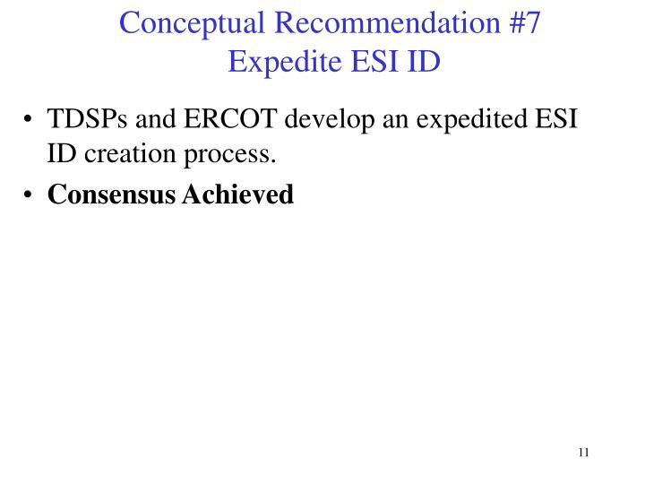 Conceptual Recommendation #7