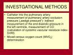 investgational methods
