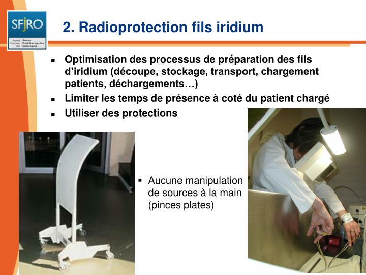2. Radioprotection fils iridium
