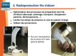 2 radioprotection fils iridium