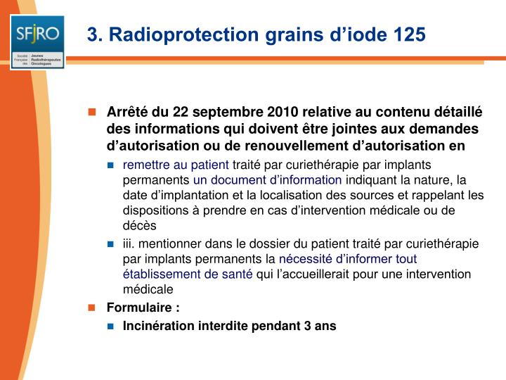 3. Radioprotection grains d'iode 125