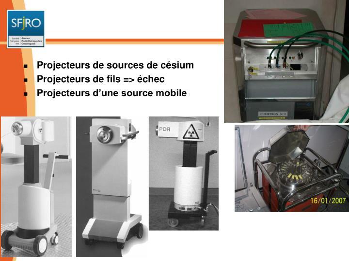 Projecteurs de sources de césium