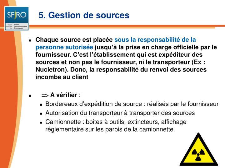 5. Gestion de sources