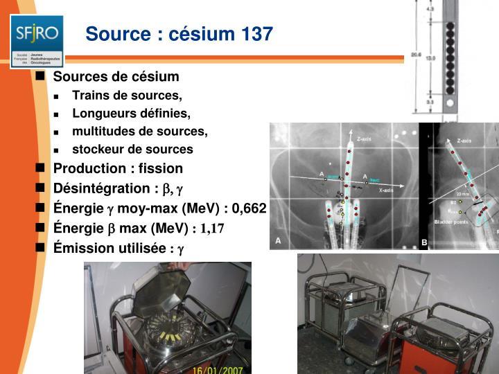 Source : césium 137