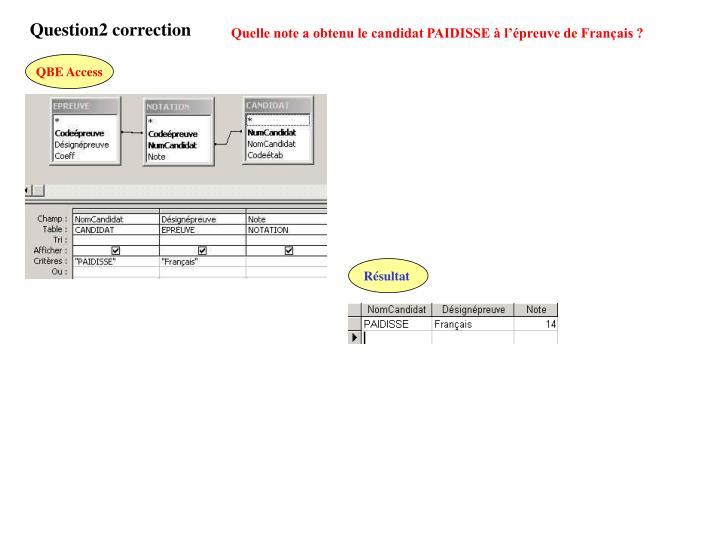 Question2 correction
