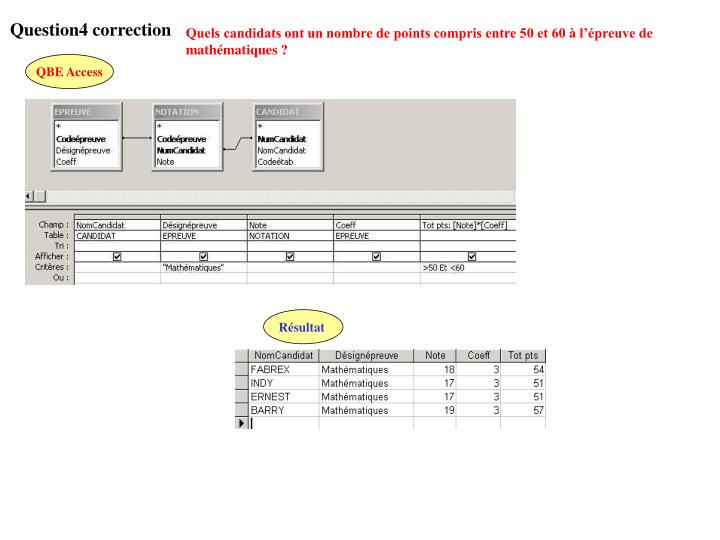 Question4 correction