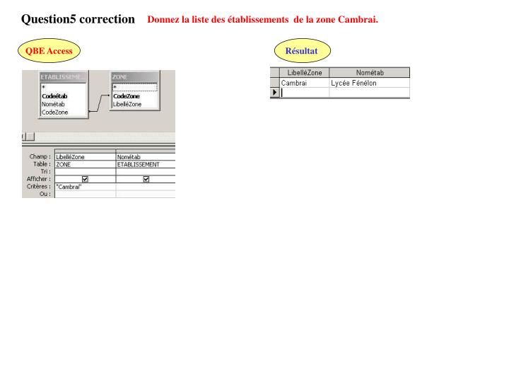 Question5 correction
