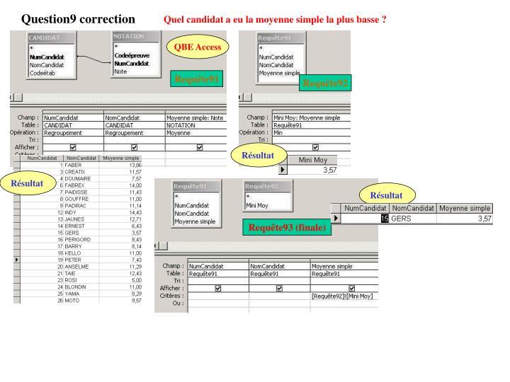 Question9 correction