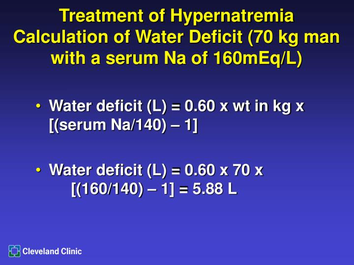Treatment of Hypernatremia