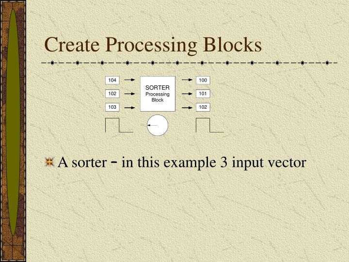 Create Processing Blocks