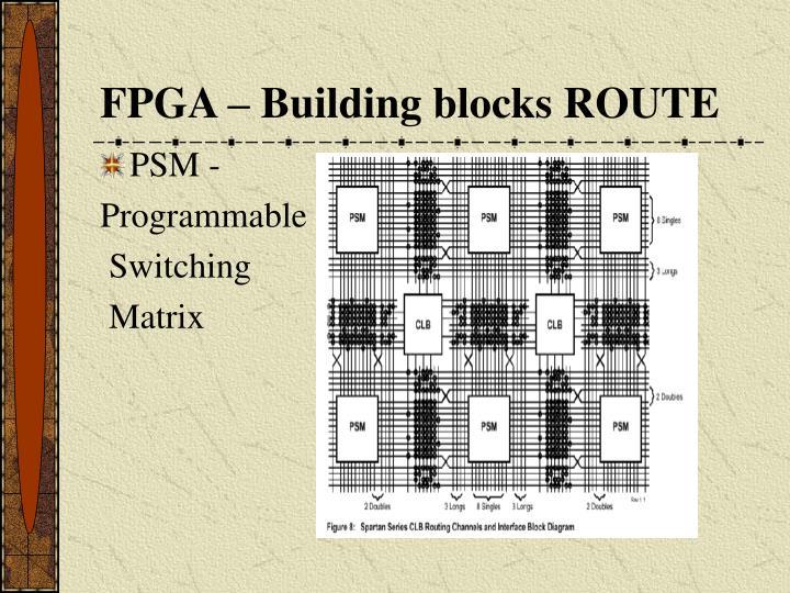 FPGA – Building blocks ROUTE