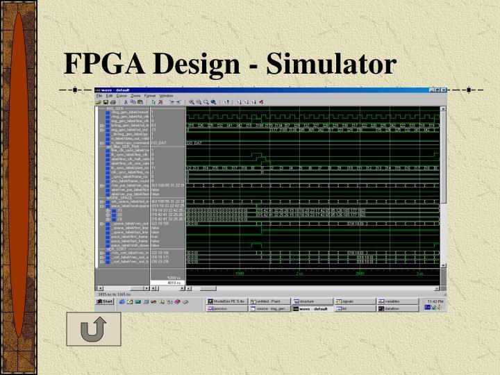 FPGA Design - Simulator