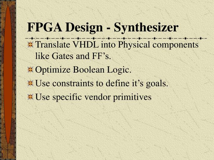 FPGA Design - Synthesizer