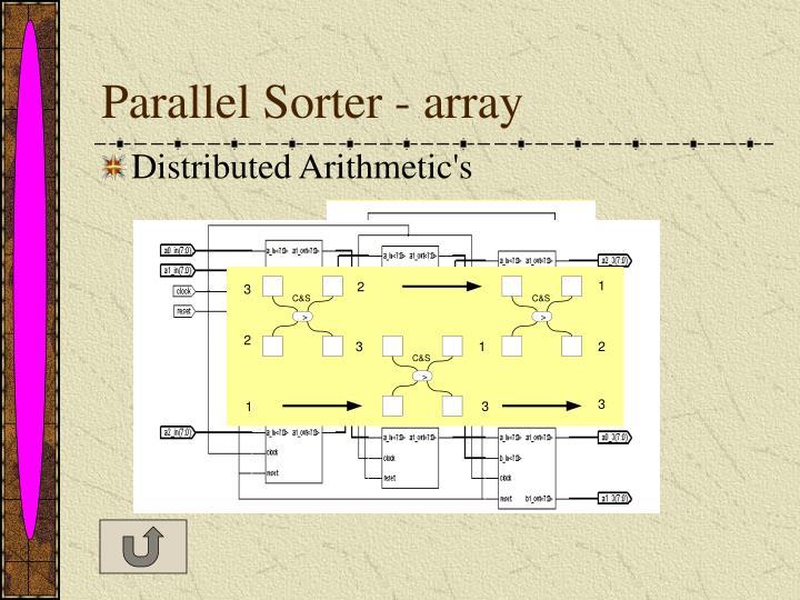 Parallel Sorter - array
