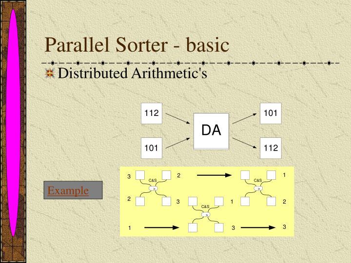 Parallel Sorter - basic