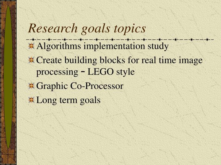 Research goals topics