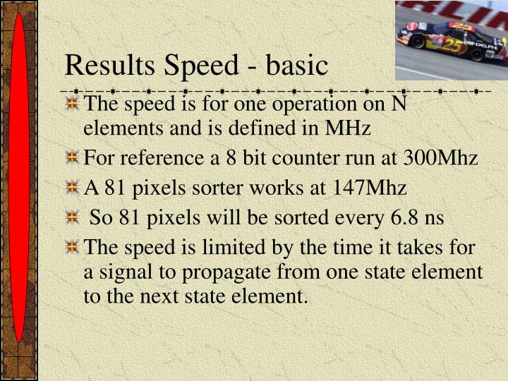 Results Speed - basic