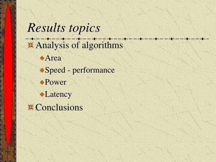 Results topics