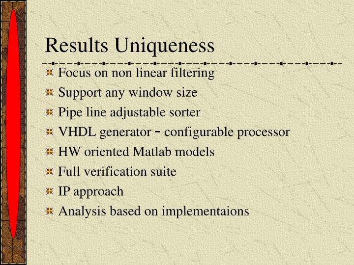 Results Uniqueness